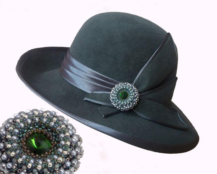 Брошь на шляпу - украшения из бисера - beaded jewelry