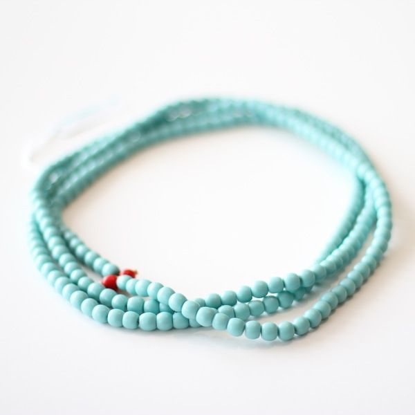 Turquoise blue rope necklace - your mum