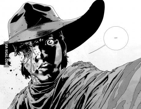 Not sure how Carl survived in the comics