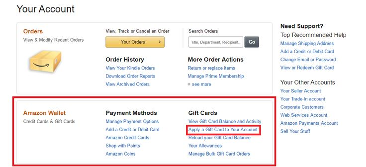 How to reload your amazon gift card balance gift card
