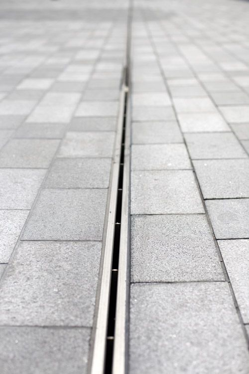 Slot Drain, Stainless steal, Paving, drainage