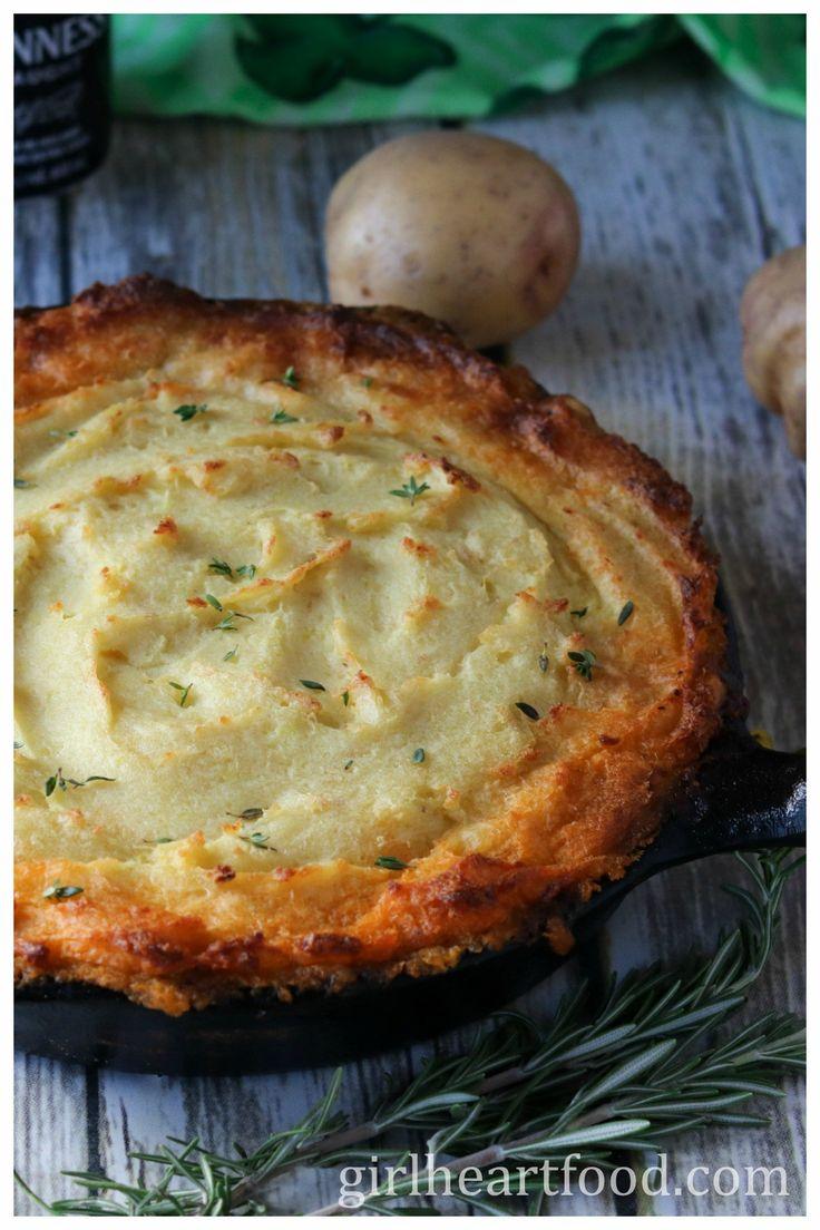 Shepherd's Pie {with Guinness Lamb and Horseradish Mash} - girlheartfood.com