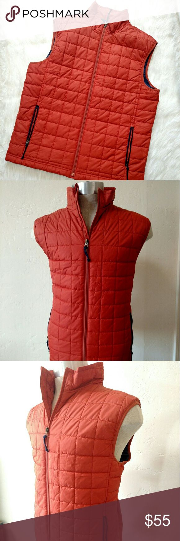 Old Navy vest large orange zipper Barely used no issues orange best from old Navy.  Two zipper pockets and full zipper front.  Light weight, and feels soft. Old Navy Jackets & Coats Vests