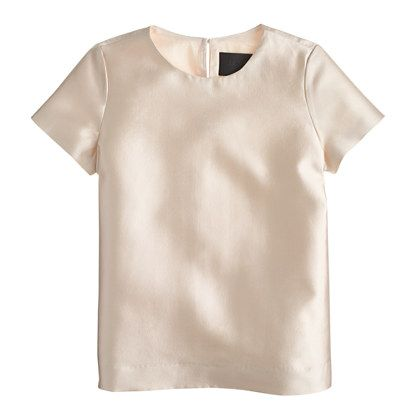 "The top to make your T-shirt drawer jealous. <ul><li>Body length: 25 1/2"".</li><li>Wool/silk.</li><li>Back keyhole with button closure.</li><li>Lined.</li><li>Dry clean.</li><li>Import.</li></ul>"