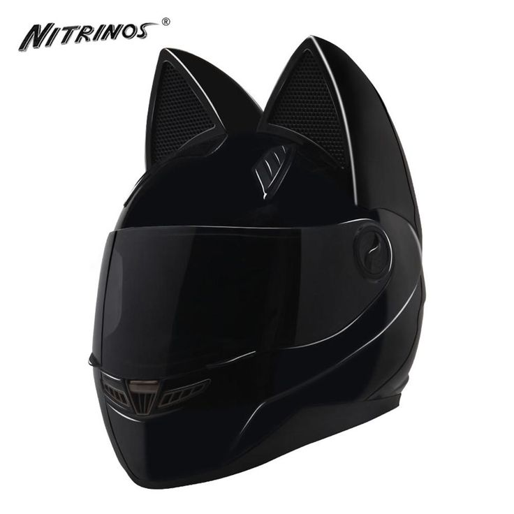 NITRINOS Black Motorcycle Helmet @iLoveCatty
