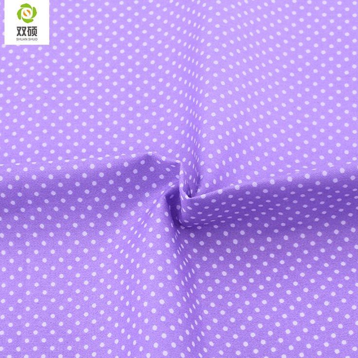 Purple Dot Color Flower Cotton Patchwork Fabirc Tilda Cotton Fabirc Tissus Au Metre Cloths For Sewing Clothes  Bedding 160*50cm #Affiliate
