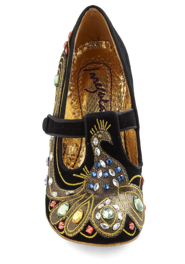 irregular choice peacock shoes