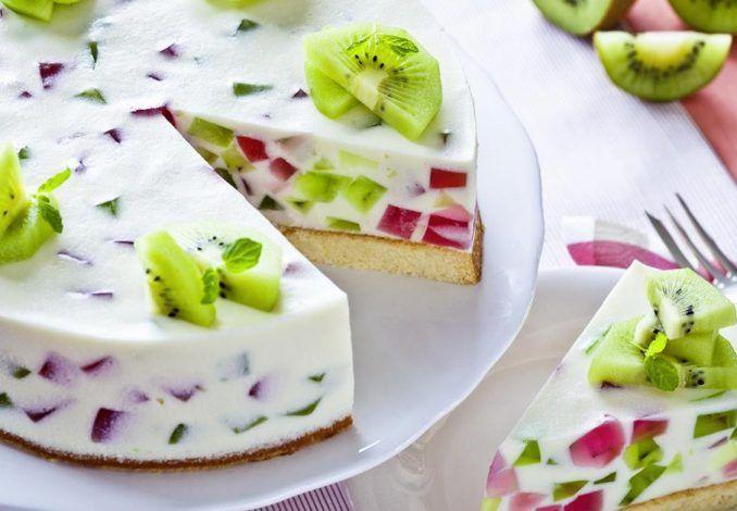 Tvarohová torta s ovocím - Receptik.sk