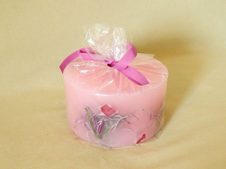 Pink handmade candle  #handmade #candles from @kirofos