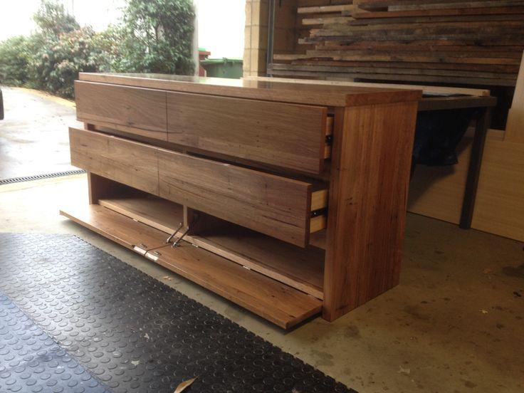Recycled hardwood timber buffet