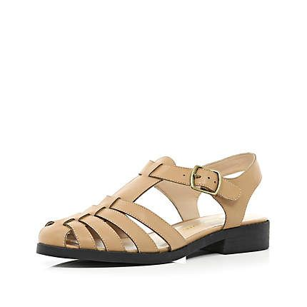 Tan strappy gladiator sandals £30.00