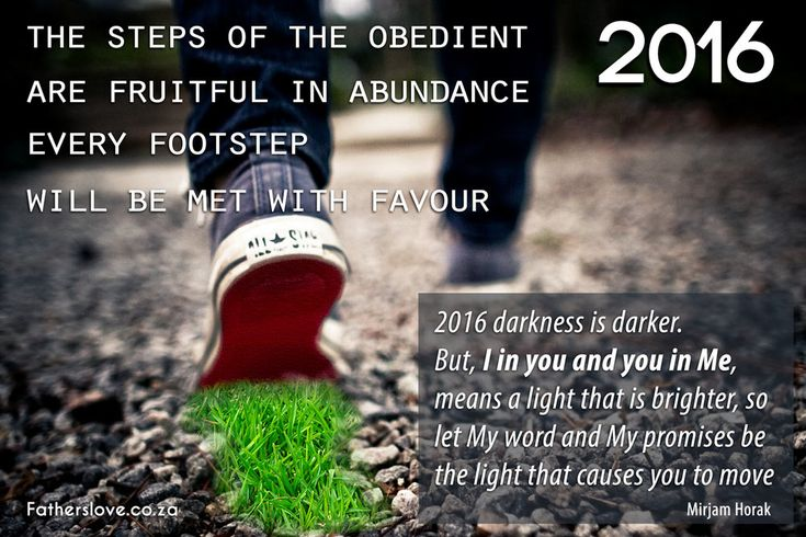 Steps of the Obedient are fruitfulness in abundance