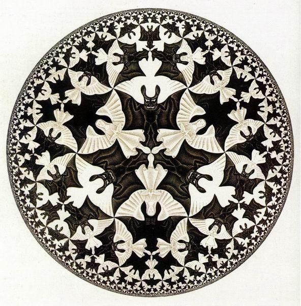 Escher - fraktály