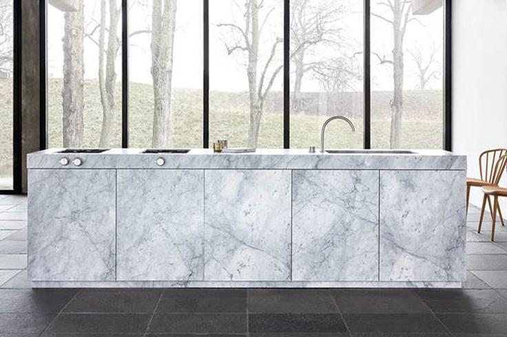 jonas lindvall kitchen concept ballingslov designboom - all carrara marble cabinetry
