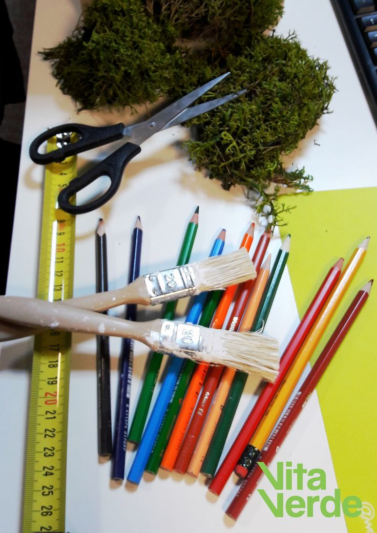 """Time to rest is almost here! Leaving the """"tools"""" aside and getting ready to gather inspiration over the weekend for the new moss art project! #officelife"""