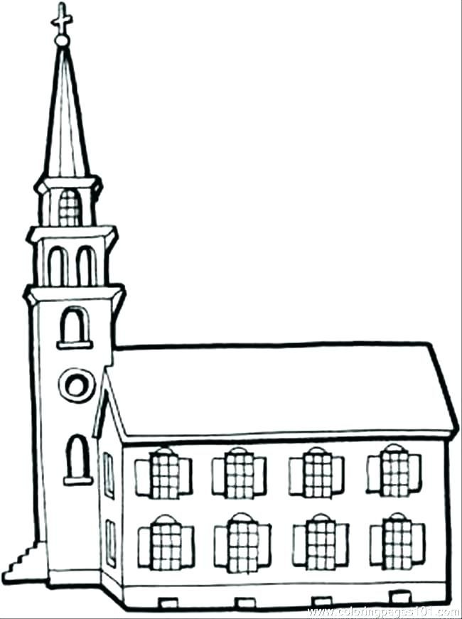 Building Coloring Pages Church Coloring Pages Building Coloring