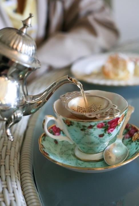 Aqua teacup!