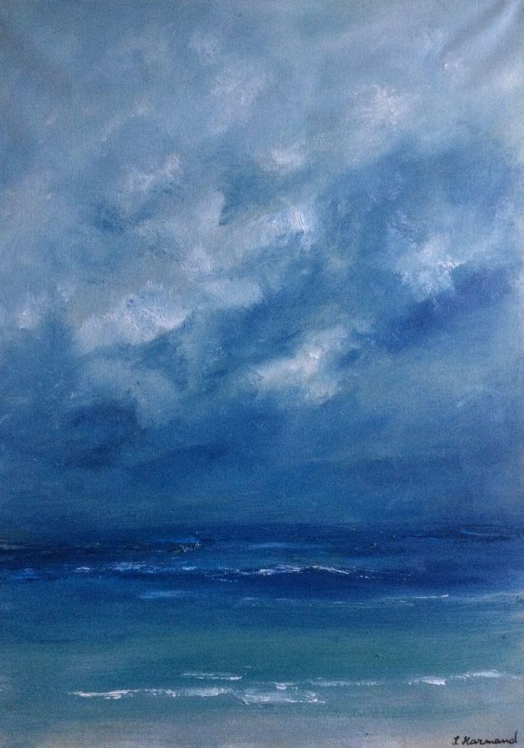 Entre ciel et mer - 50 x 70 cm - Huile sur toile