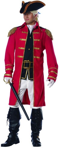 Red Coat Soldier Costume - Colonial Costumes