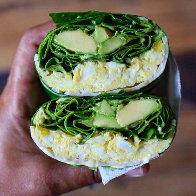 Collard Green Wrap With Scrambled Eggs, Smoked Turkey, Spinach And Avocado via @feedfeed on https://thefeedfeed.com/thecastawaykitchen/collard-green-wrap-with-scrambled-eggs-smoked-turkey-spinach-and-avocado