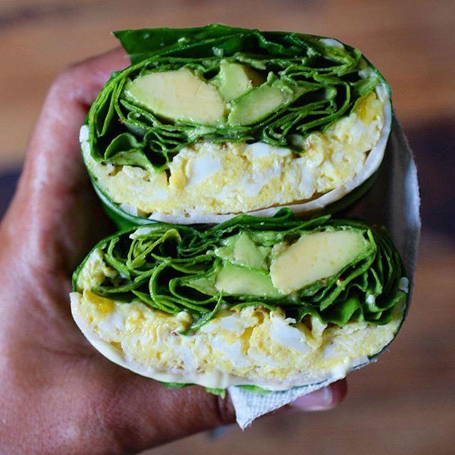 Collard Green Wrap With Scrambled Eggs, Smoked Turkey, Spinach And Avocado via @feedfeed on https://thefeedfeed.com/thecastawaykitchen/collard-green-wrap-with-scrambled-eggs-smoked-turkey-spinach-and-avocado