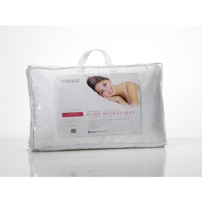 Relax Right Microfibre Pillow - Low Profile by Bianca
