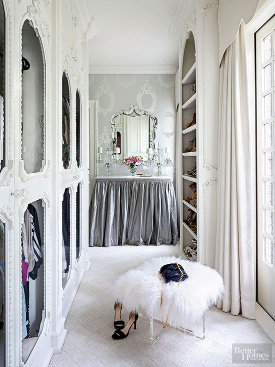 Check out these chic walk-in closets! Add instant style, color and organization with these easy DIY closet ideas.