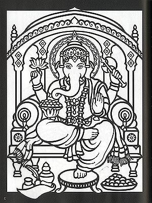 hindu gods and goddesses stained glass coloring book by marty noble
