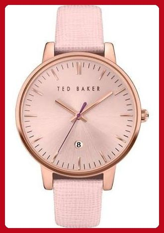 Ted Baker Women's 'Classic' Quartz Stainless Steel and Leather Dress Watch, Color:Pink (Model: 10030737) - All about women (*Amazon Partner-Link)