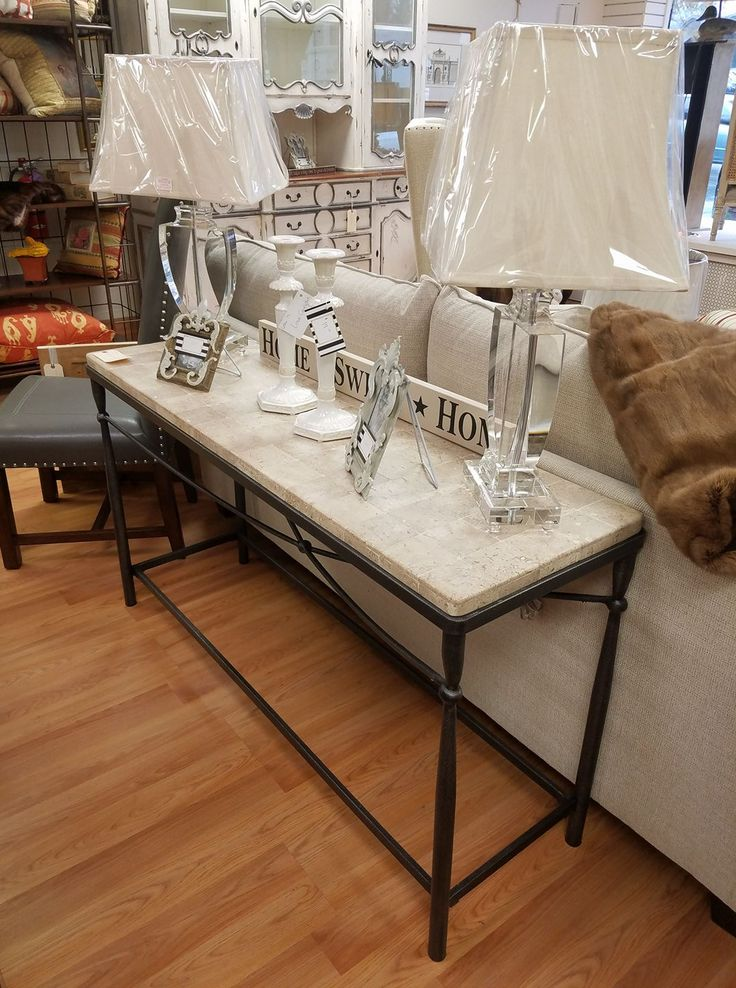 Feel Inspired With This Beautiful Limestone Console Table Filled With  Beautiful Home Decorative Pieces. Only