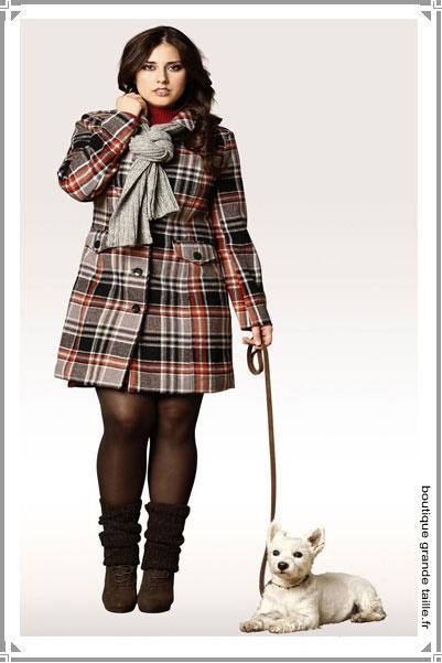 Manteau capuche femme ronde