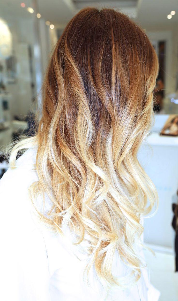 Blonde haare mit balayage