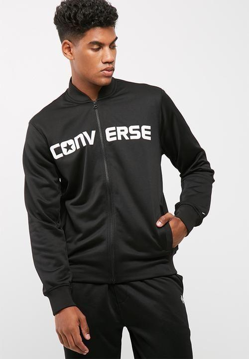 Hybrid knit bomber - black Converse Hoodies | Superbalist.com