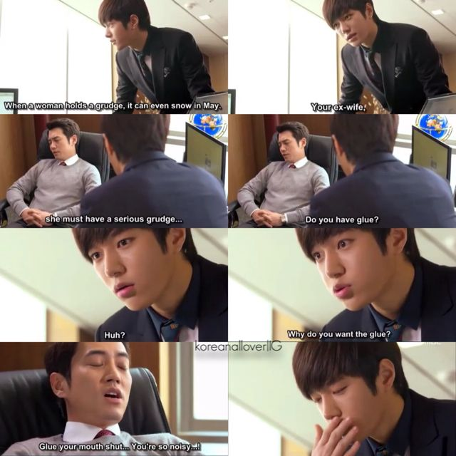 LOL, these two! Their relationship is so cute and funny. Secretary? Please, more like hyung-dongsaeng. Cunning single lady