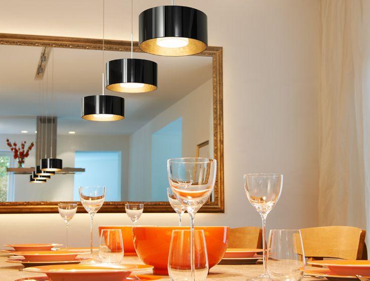Illuminazione d'atmosfera per tavoli da pranzo e per conferenze