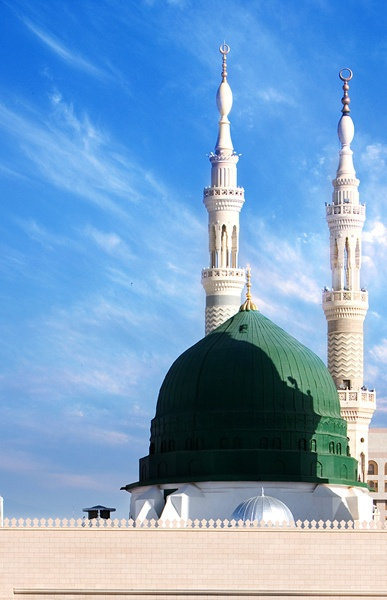 The Iconic Green Dome of the Prophet's Mosque (Madinah, Saudi Arabia)
