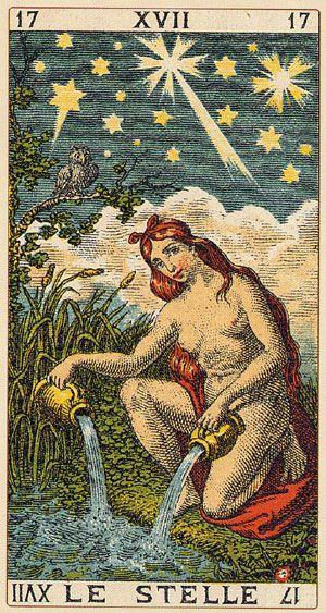 The Star - Ancient Italian tarot
