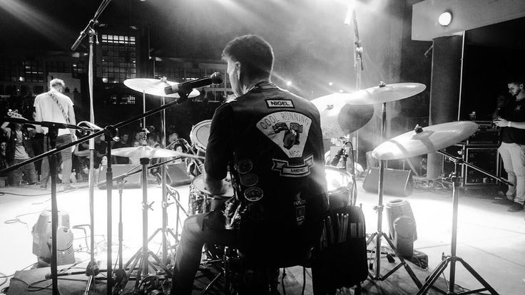 The Color Blew drummer @armandomcsantos on stage at the Poison 2015