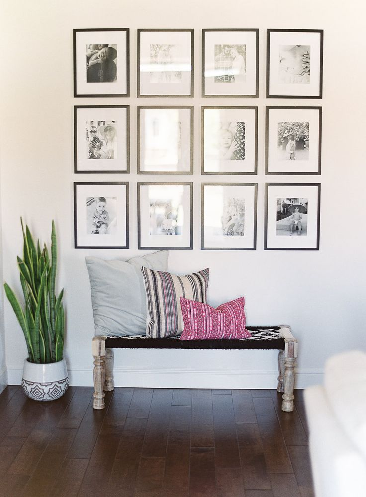 Modern black and white gallery wall: Photography : Daphne Mae Photography  Read More on SMP: http://www.stylemepretty.com/living/2016/07/26/this-bohemian-home-was-inspired-by-one-of-our-favorite-blockbusters/