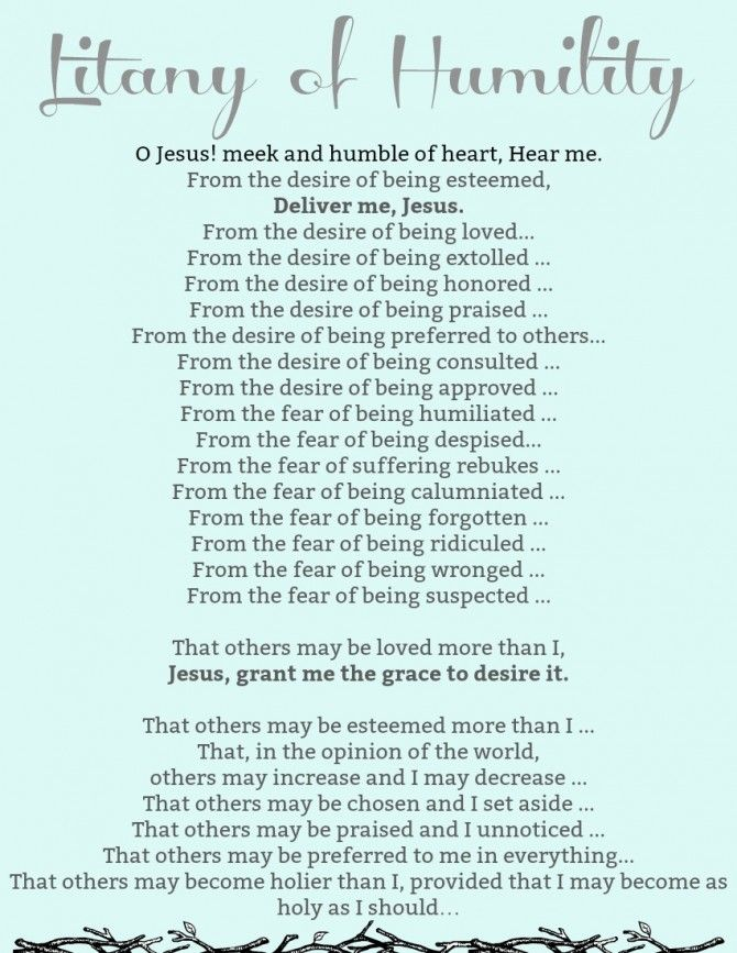 Litany of Humility - Payhip | Litany of humility