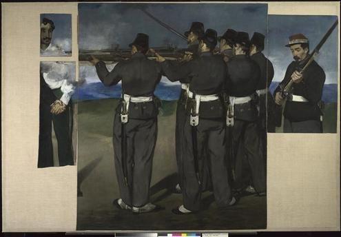 L'exécution de Maximilien Manet Edouard (1832-1883)