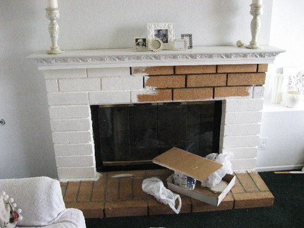 I have a horror of ugly brick fireplaces... perfect solution!