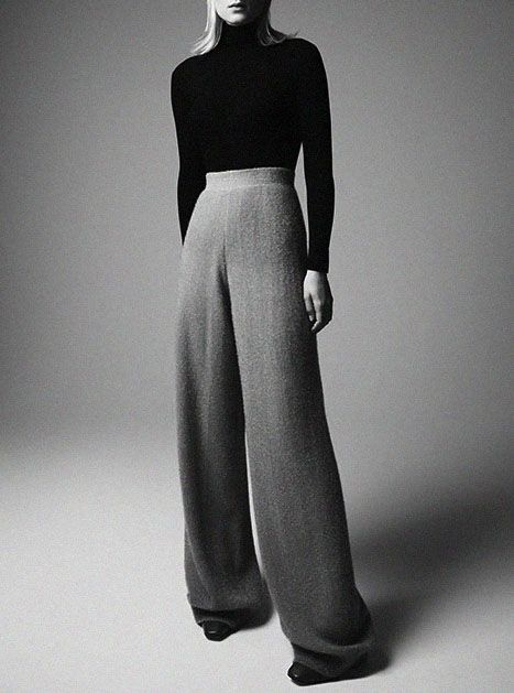 Do we want flares back ? Which style do you like? wide leg flared trousers pants Charlotte Tomaszewska by David Sessions