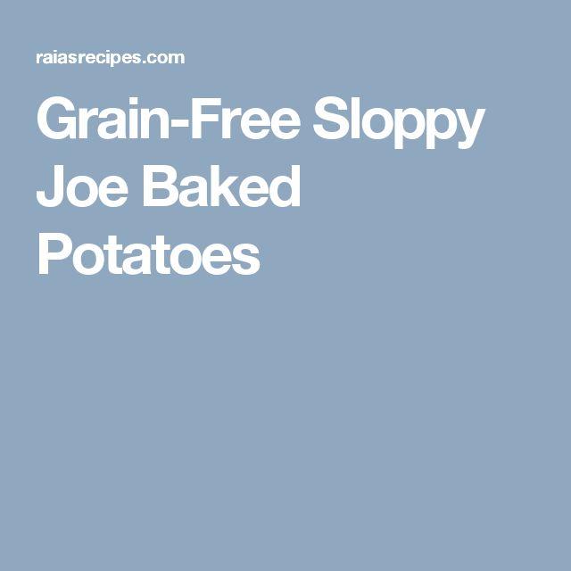 Grain-Free Sloppy Joe Baked Potatoes