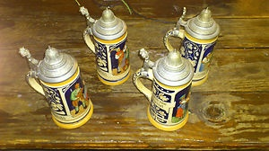 My new antique German beer steins I bought from eBay.