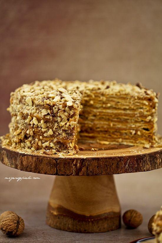 Moje Wypieki | Tort kajmakowy z Chile - tort tysiąca warstw