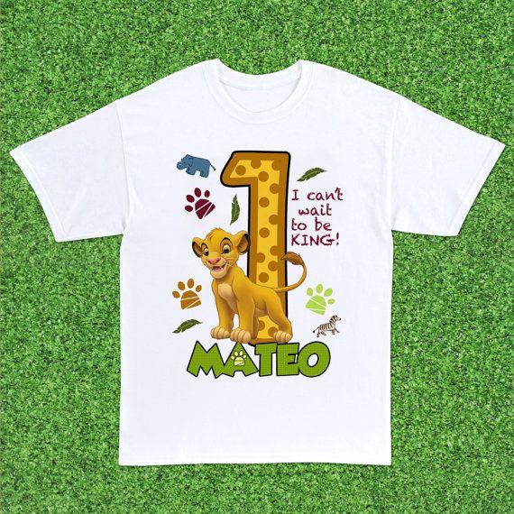 Lion King Birthday Party Boy Shirts First
