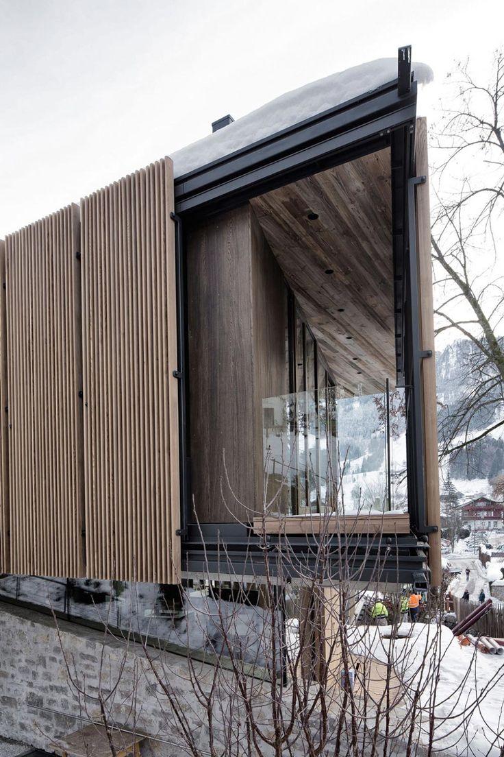 Glass Balustrading, Modern Home in the Mountains, Kitzbühel, Austria