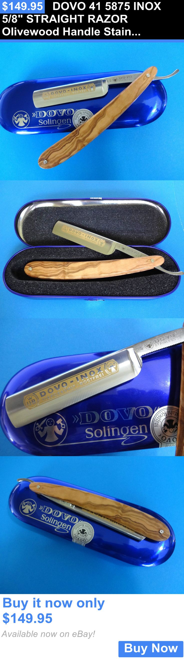 Straight Razors: Dovo 41 5875 Inox 5/8 Straight Razor Olivewood Handle Stainless Solingen Blade BUY IT NOW ONLY: $149.95