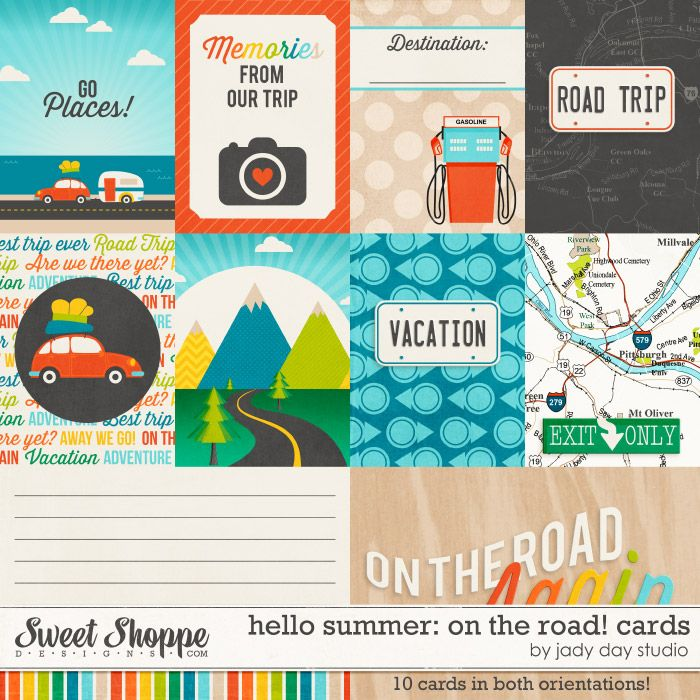 Hello Summer: On The Road! Project Cards by Jady Day Studio at Sweet Shoppe Designs